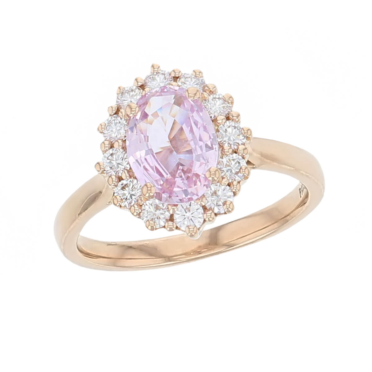 Padparadscha Sapphire Diamond 18ct Rose Gold Cluster Ring Faller Derry Jewellers,Modern White Kitchen Cabinets With Grey Countertops